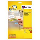 480 étiquettes adhésives laser coloris rouge L6034 Avery, la boîte