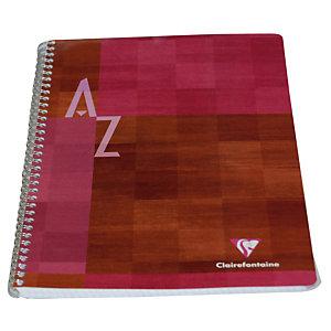 5 adresboeken met spiraal 180 pagina's formaat 21 x 29,7 Clairefontaine geassorteerde kleuren, per set