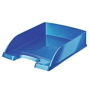 5 bacs à courrier standard format portrait Wow Leitz Plus coloris bleu métallisé
