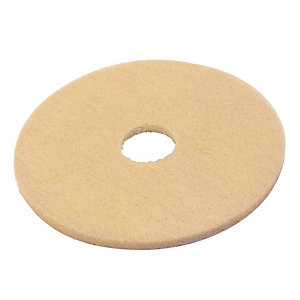 5 beige polijstschijven diam. 406 mm