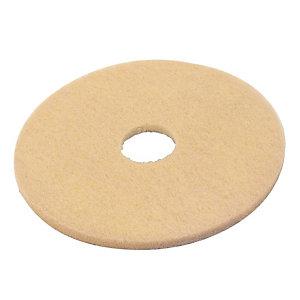 5 beige polijstschijven diam. 432 mm