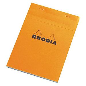 5 blocs Rhodia A5 agrafés modèle non perforé réglure 5 x 5