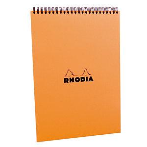 5 blokken Rhodia A4 met spiraal niet-geperforeerd model liniëring 5 x 5