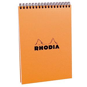 5 blokken Rhodia A5 met spiraal niet-geperforeerd model liniëring 5 x 5