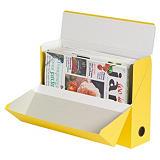 5 boites de classement carton dos 9 cm coloris jaune