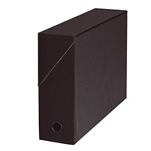 5 boites de classement carton dos 9 cm coloris noir