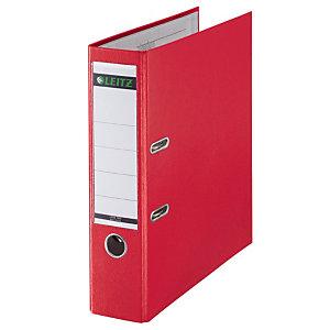 5 classeurs à levier Leitz 180° standard polypropylène coloris rouge