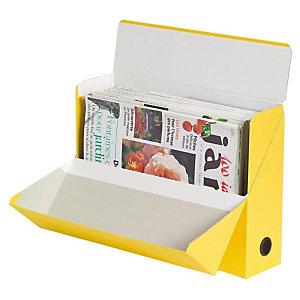 5 klasseerdozen in karton rug 9 cm kleur geel