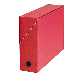 5 klasseerdozen in karton rug 9 cm kleur rood