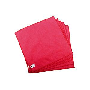 5 lavettes microfibres Taski MyMicro 36 x 36 cm rouge