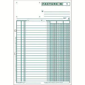 5 manifolds autocopiants pré-imprimés factures dupli  10,5 x 13,5 Exacompta, le lot