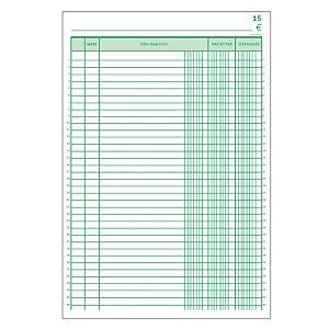 5 manifolds autocopiants pré-imprimés recettes- dépenses dupli 29,7 x 21 Exacompta, le lot