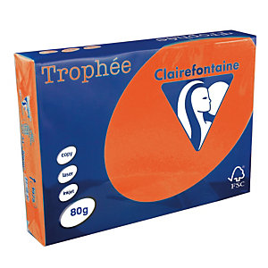 5 papierpakken Clairefontaine Trophée rood A4 80 g