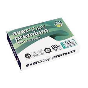 5 ramettes papier 100% recyclé Evercopy Premium A4 80g