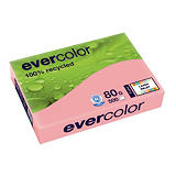 5 ramettes papier Clairefontaine Evercolor coloris rose A4 80g