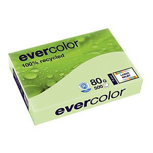 5 ramettes papier Clairefontaine Evercolor coloris vert A4 80g