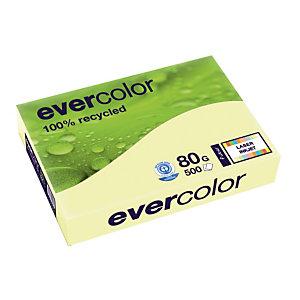 5 ramettes papier Clairefontaine Evercolor jaune A4 80g