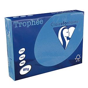 5 ramettes papier Clairefontaine Trophée bleu turquoise A4 80 g