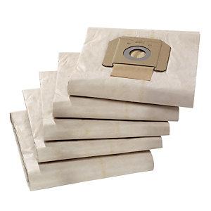 5 sacs filtrants indéchirables à 3 couches pour aspirateur eau et poussières Kärcher NT65/ 2 Ap 65 L