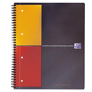 5 schriften Activebook 160 pagina's 5 x 5 Oxford International kleur grijs, per set