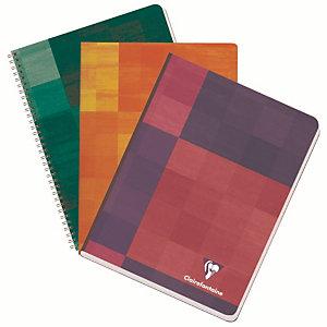 5 schriften met doorgestikte inbinding 120 pagina's 21 x 29.7 Clairefontaine Liniëring 5 x 5 met kantlijn geassorteerde kleuren