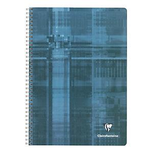 5 schriften met spiraalinbinding 180 pagina's 16.5 x 21 Clairefontaine 5 x 5 met kantlijn geassorteerde kleuren