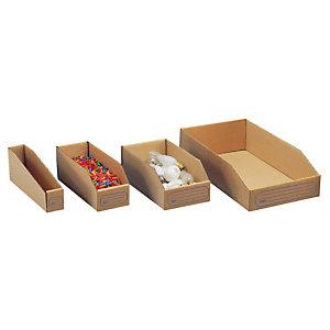 50 bacs à bec en carton - Profondeur 275 mm - 4,5 L