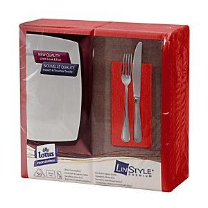 50 knalrode servetten Dinner Linstyle® standaard formaat, 1/8 vouw