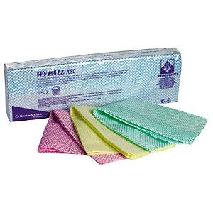 50 lavettes non-tissées Wypall X50 Kimberly-Clark bleu