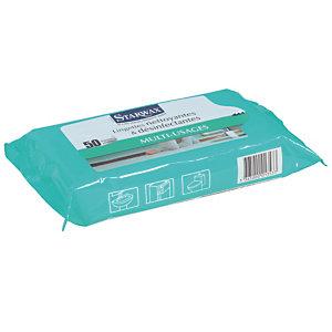50 lingettes nettoyantes et désinfectantes multi-usage Starwax