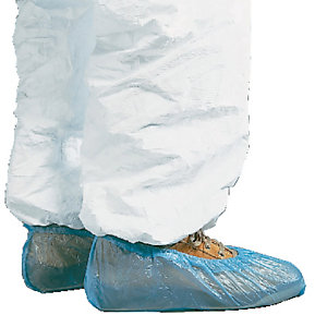 50 paires de surchaussures jetables en polyéthlène, taille unique