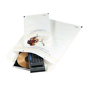 50 pochettes bulles 90 g antichocs 90 x 165 mm GPV coloris blanc, le lot