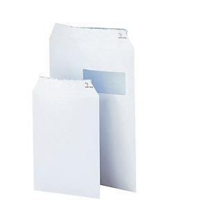 50 zakomslagen 90 g wit velijn 162 x 229 kleur wit, per set