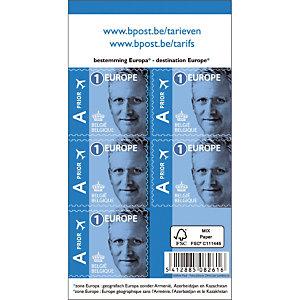 50 zelfklevende postzegels Koning Philippe Europees tarief 1