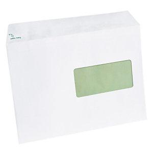 500 enveloppes C5 extra blanches Erapure GPV à bande protectrice 162 x 229 mm avec fenêtre 45 x 100 mm papier 100% recyclé 80 g