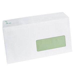 500 enveloppes DL extra blanches Erapure GPV à bande protectrice 110 x 220 mm avec fenêtre 35 x 100 mm papier 100% recyclé 80 g