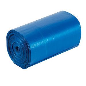 500 sacs poubelle bleu translucide 30 L