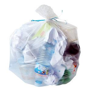 500 voordelige doorschijnende vuilniszakken 30 L