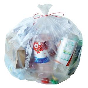 500 voordelige doorschijnende vuilniszakken 50 L