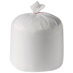500 voordelige zakken 50 L, witte kleur