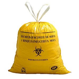 500 vuilniszakken met schuiflinten voor specifiek ziekenhuisafval DASRI 30 L