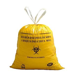 500 vuilniszakken met schuiflinten voor specifiek ziekenhuisafval DASRI 50 L