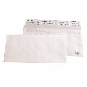 500 witte DL enveloppen La Couronne met beschermstrip 110 x 220 mm zonder venster 100% gerecycleerd papier 80 g