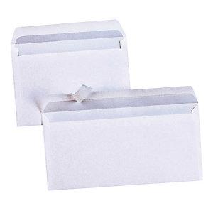 500 witte DL enveloppen La Couronne met beschermstrip 110 x 220 mm zonder venster velijn 80 g