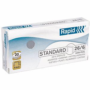5000 genormaliseerde standaard nietjes n° 26/6 Rapid