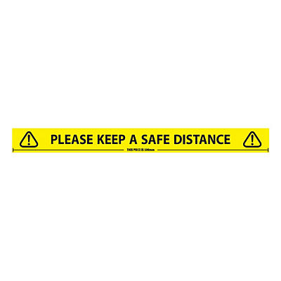 500mm Social Distancing Warning Tape