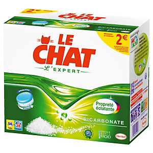 56 tablettes de lessive Le Chat l'Expert