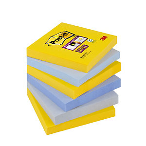 6 blocs notes Super Sticky Post-it® 76 x 76 mm collection New-York, le lot