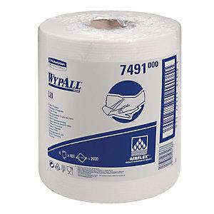 6 bobines d'essuyage blanches  à dévidage central Wypall L20 , 400 formats