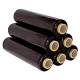 6 bobines film étirable opaque noir 17 microns 300m x 450mm##6 rollen ondoorschijnende zwarte uitrekbare film 17 micron